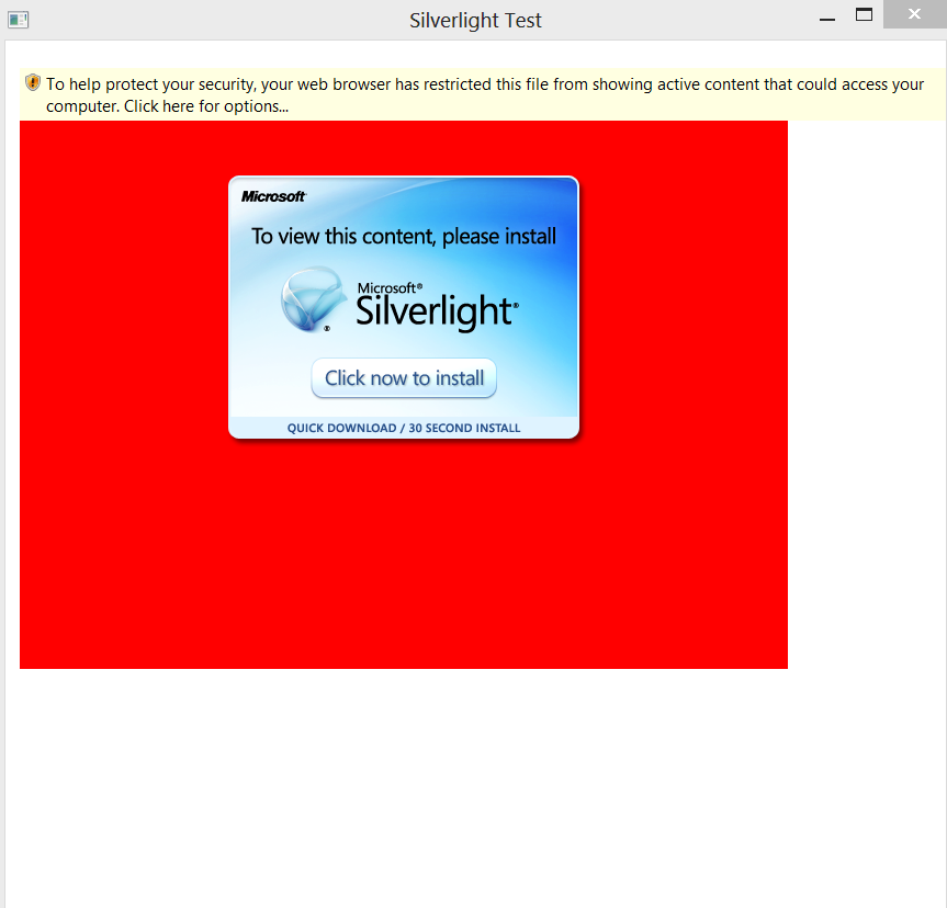 Wpf WebBrowser control and silverlight IE security issue