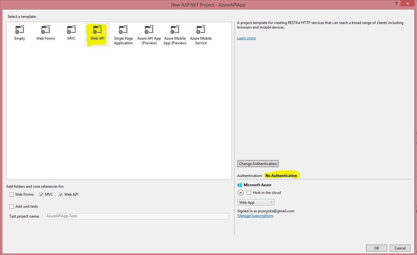 How To: Convert ASP NET Web API to Azure API app   Code